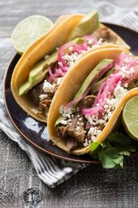 Lamb Carnitas Tacos with Roasted Tomatillo Salsa