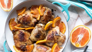 Vanilla Balsamic Roasted Chicken Thigs with Cara Cara Oranges-1026
