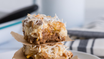 Tropical 7 Layer Bars. A tropical version of the classic 7 layer bar