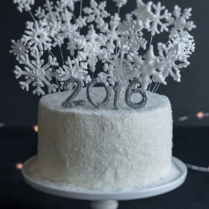Kir Royale New Year's Champagne Layer Cake