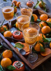 Satsuma Persimmon Negroni Sorbet Champagne Cocktails www.pineappleandcoconut.com