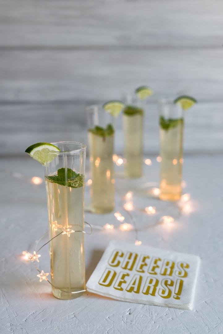 Vanilla Honey Ginger Mojito Champagne Cocktails