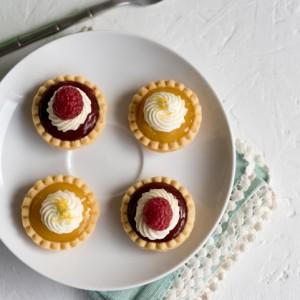 No-Bake Mini Lemon and Raspberry Tarts www.pineappleandcoconut.com #ad #worldmarket #Discover