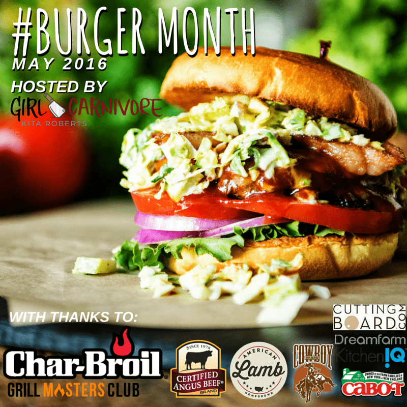 #Burgermonth graphic