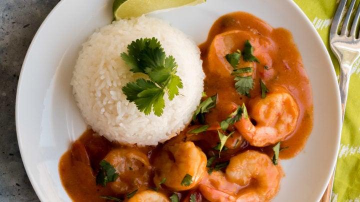 Cuban Shrimp Coconut Sofrito and Rice