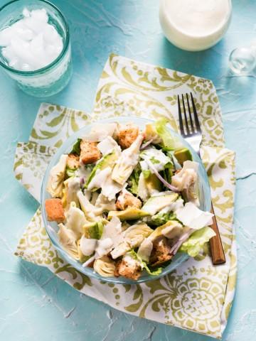 Avocado Caesar Salad 099