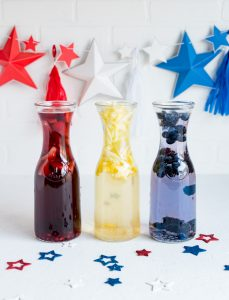 Red, White Blue Sangrias www.pineappleandcoconut.com #ad #worldmarkettribe #discover #fourthofjuly