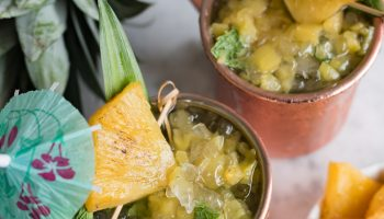 Roasted Pineapple Hawaiian Mule Cocktail www.pineappleandcoconut.com #KoloaRum #liquidpoetry