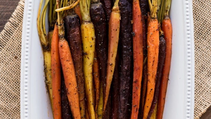 Honey Chipotle Roasted Carrots
