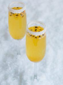 Coconut Passion fruit Champagne Cocktails