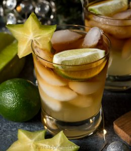Spicy Dark and Stormy Cocktail