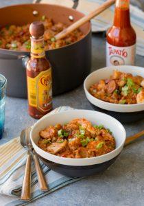 Chicken, Shrimp and Andouille Sausage Jambalaya