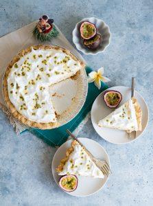 Hawaiian Passion Fruit Chiffon Pie (Hamura Saimin Lilikoi Chiffon Pie)