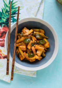 Tropical Cucumber Kimchi with Mango and Pineapple