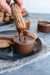 Baked Churros with Three Dipping Sauces