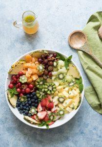 Summer Fruit Salad with Honey Lime Vinaigrette #Discoverworldmarket #ad