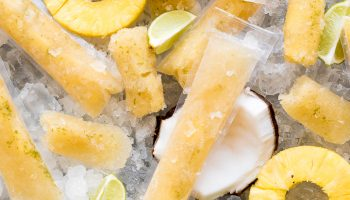 Boozy Pineapple Sweet Tea Ice Pops www.pineappleandcoconut.com