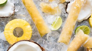 Boozy Pineapple Sweet Tea Ice Pops