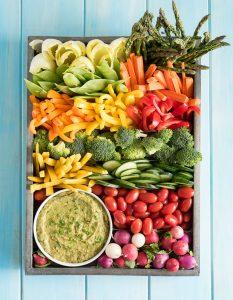 Summer Veggie tray with Artichoke Avocado Pesto Dip  #Ad #Discoverworldmarket