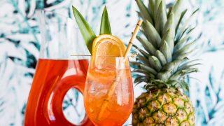 Tropical Rosé Aperol Spritz Cocktail