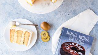 MANGO ITALIAN CREAM CAKE WITH PASSION FRUIT CUSTARD AND KIWI BUTTERCREAM