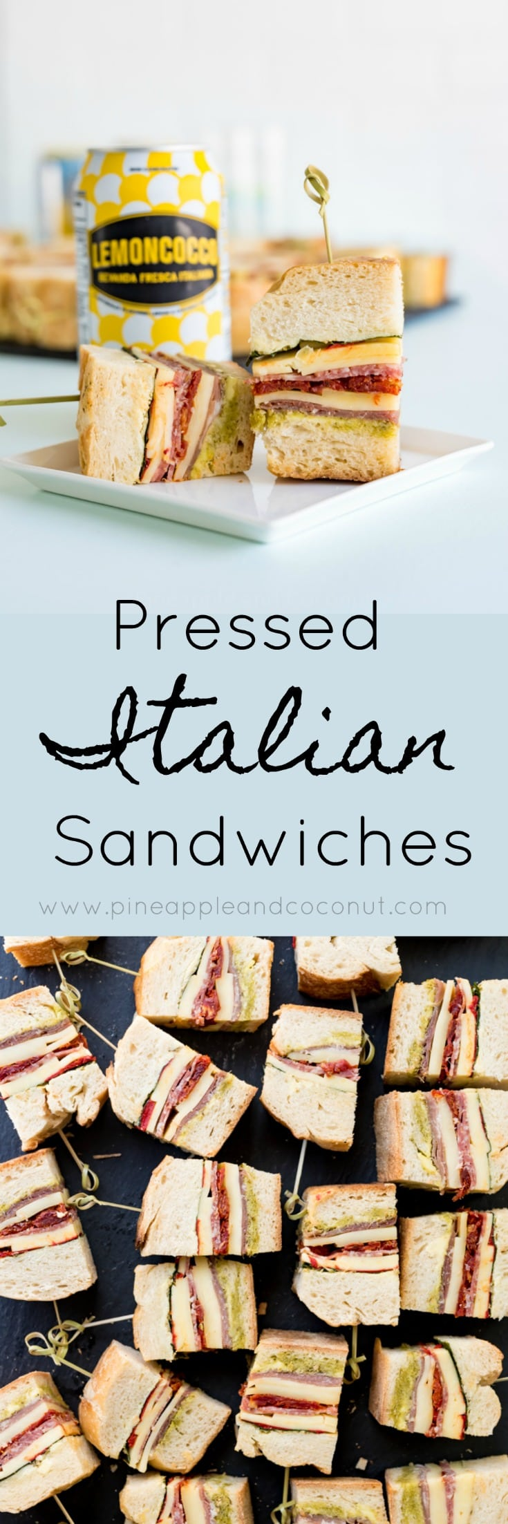 Pressed Italian Sandwiches www.pineappleandcoconut.com #ad #discoverworldmarket