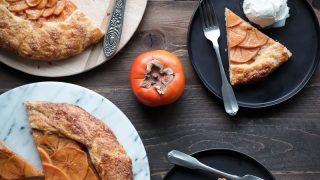 Persimmon Galette with Mango Dark Rum Glaze