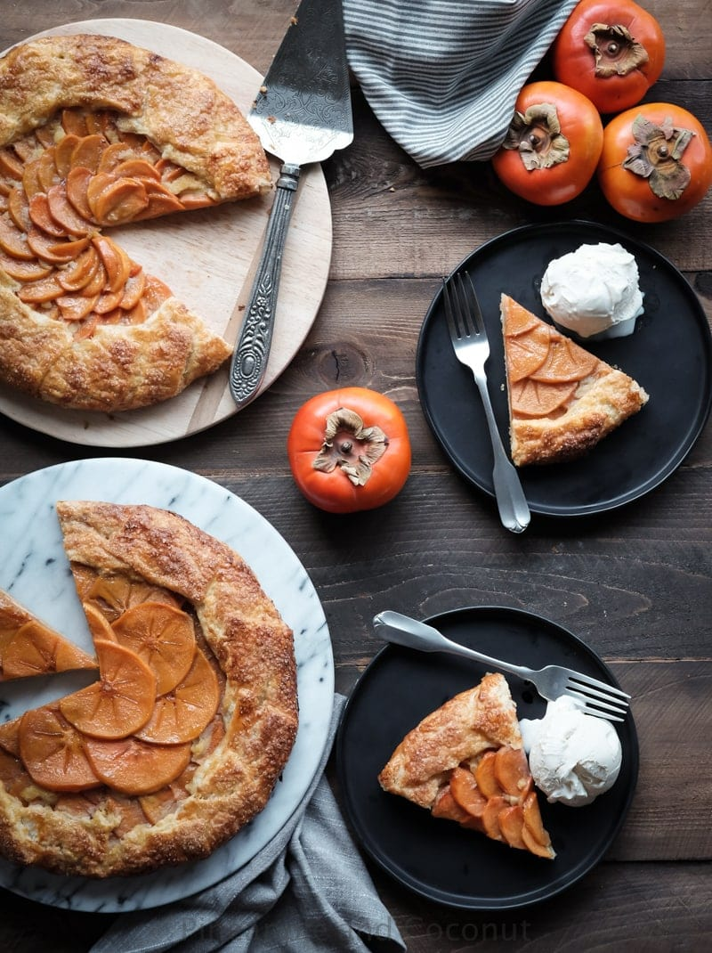Persimmon Galette with Mango Rum Glaze With Mango Dark Rum Glaze www.pineappleandcoconut.com