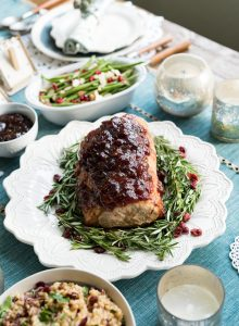 Christmas Dinner – Cranberry Fig Roast Pork with Cranberry Orange Risotto