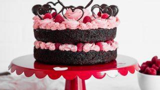 Valentine's Day Chocolate Raspberry Cake