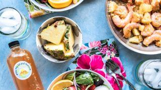Spicy Hawaiian Garlic Shrimp with Pineapple