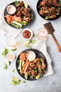 Grilled Korean Chicken Wings with Honey Gochujang Dipping Sauce www.pineappleandcoconut.com #ad #discoverworldmarket