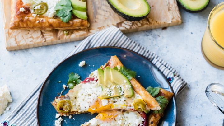 Puff Pastry Mexican Breakfast Pizza