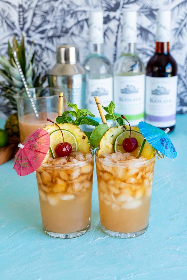 Hawaiian Wedding Mai Tai Cocktails www.pineappleandcoconut.com