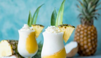 Golden Piña Colada Cocktails www.pineappleandcoconut.com #KoloaRum #nationalpinacoladaday #fRumHawaii