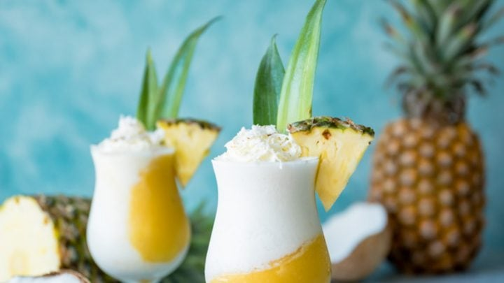 Golden Piña Colada Cocktails www.pineappleandcoconut.com #KoloaRum #nationalpinacoladaday #fRumHawaii
