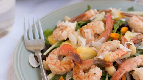 Grilled Shrimp Salad with Pina Colada Vinaigrette For Zing Anything