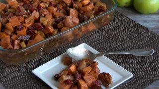 Maple Cinnamon Baked Sweet Potatoes And Apples