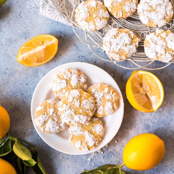 Ginger Cardamom Meyer Lemon Crinkle Cookies Pineapple And Coconut