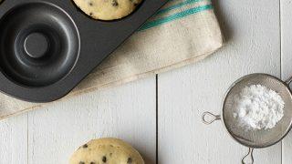 Gluten Free Vanilla Doughnuts with Mini Chocolate Chips