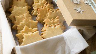 Vanilla Cardamom Shortbread Snowflake Sandwich Cookies with Espresso Buttercream Filling
