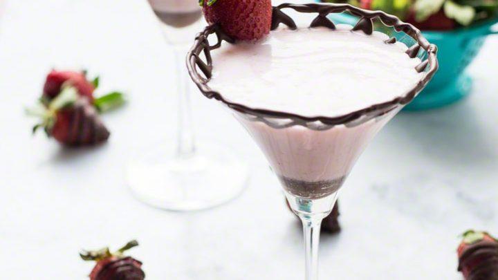 Chocolate Dipped Strawberry Martini