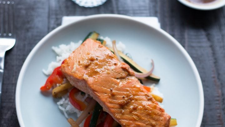 Orange Sesame Grilled Salmon