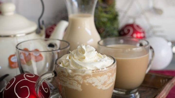 Aprés Ski Boozy Tea (with homemade vanilla maple creamer)