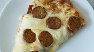 Spicy Roasted Red Pepper and Italian Sausage Pizza