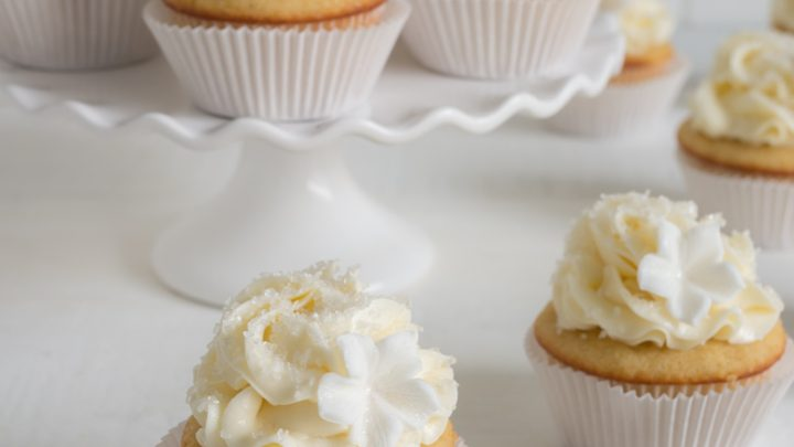 Sparkling Tahitian Vanilla Cupcakes