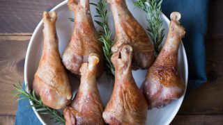 Maple Bourbon Brined Turkey Legs