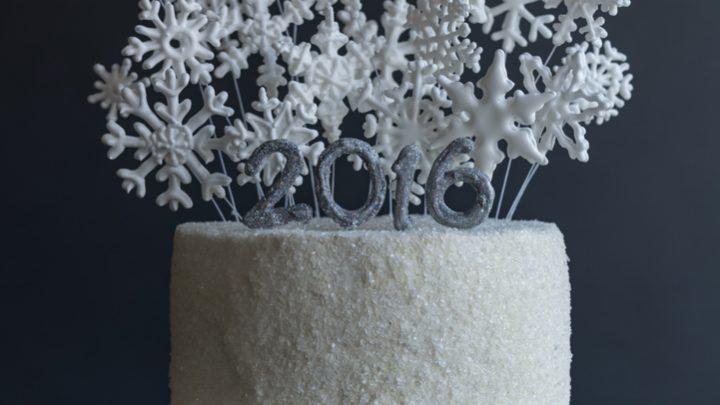 Kir Royal New Year's Champagne Layer Cake