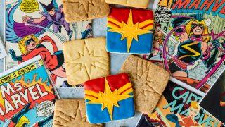 Captain Marvel Coffee Sugar Cookies