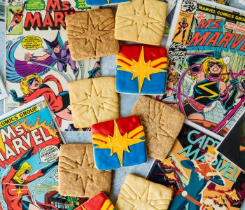 Captain Marvel Coffee Sugar Cookies www.pineappleandcoconut.com